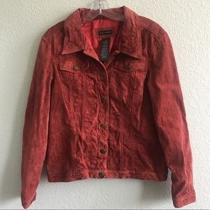 For Joseph Suede Leather Jacket